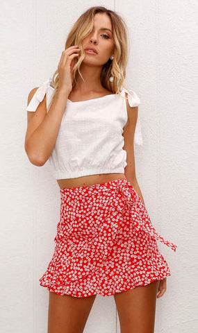 RUFFLE WRAP IT SKIRT - B ANN'S BOUTIQUE