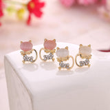 OPAL KITTY CAT EARRINGS - B ANN'S BOUTIQUE