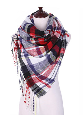 PLAID TASSEL SCARVES - B ANN'S BOUTIQUE
