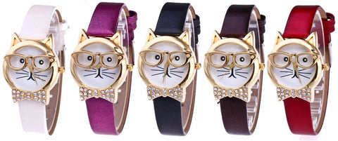 CARTOON CAT QUARTZ WATCH - B ANN'S BOUTIQUE