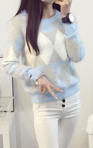 WOOL BLEND FUZZY SWEATER - B ANN'S BOUTIQUE