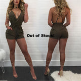 BACKLESS SAFARI ROMPER - B ANN'S BOUTIQUE