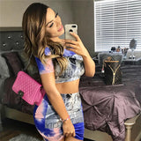 NYC LOVE TIE-DYE SKIRT SET - B ANN'S BOUTIQUE