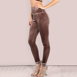 VELVET HIGH WAIST LEGGINGS - B ANN'S BOUTIQUE