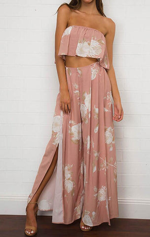 PRETTY IN PINK TWO PIECE PANTS SET - B ANN'S BOUTIQUE