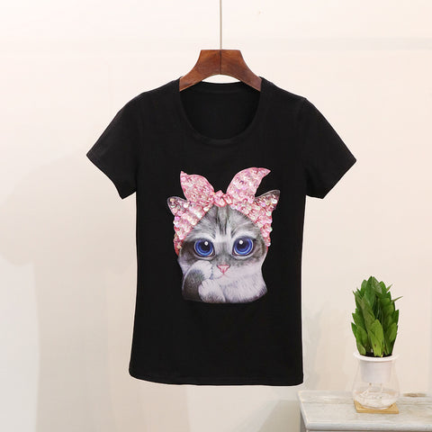 SO SERIOUS CAT FASHION TEE - B ANN'S BOUTIQUE