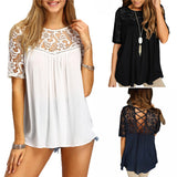 LACE & LACE-UP TOP - B ANN'S BOUTIQUE