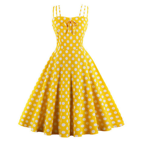 POLKA DOT PARTY SWING DRESS
