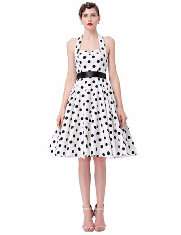VINTAGE POLKA-DOT SWING DRESS - B ANN'S BOUTIQUE