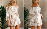 OFF-THE-SHOULDER FLORAL ROMPER - B ANN'S BOUTIQUE