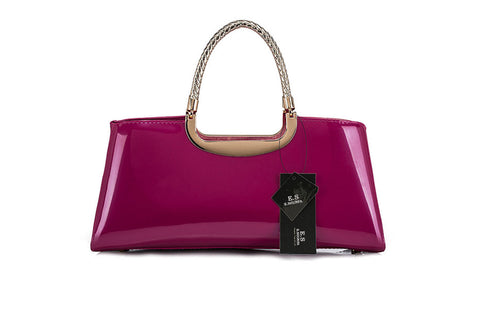 PATENT LEATHER ZIPPERED TOTE - B ANN'S BOUTIQUE