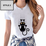 MISCHEVIOUS KITTY CAT TEE - B ANN'S BOUTIQUE