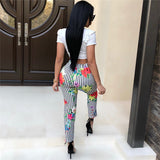 FLORAL LOVE PANTS SET - B ANN'S BOUTIQUE