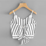 BLACK & WHITE IS SO RIGHT CROPPED TOP - B ANN'S BOUTIQUE