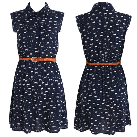 KITTEN PRINTS DRESS - B ANN'S BOUTIQUE