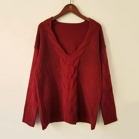 CABLE-KNIT & WOVEN BLEND SWEATER - B ANN'S BOUTIQUE