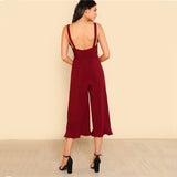 CHIC ANKLE RUFFLE JUMPSUIT - B ANN'S BOUTIQUE