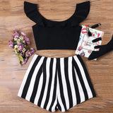IT'S A BLACK & WHITE THING SHORTS SET - B ANN'S BOUTIQUE