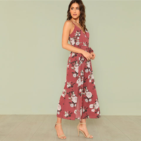 IT'S A WRAP FLORAL JUMPSUIT - B ANN'S BOUTIQUE