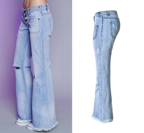 RETRO BUTTON-UP WIDE-LEG JEANS - B ANN'S BOUTIQUE