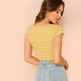 A RAY OF SUNSHINE CROPPED TOP - B ANN'S BOUTIQUE