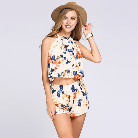 NAVY & SPICE FLORAL DREAM SHORTS SET - B ANN'S BOUTIQUE