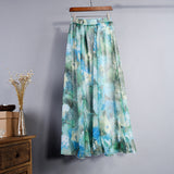 FLOOR LENGTH FLORAL CHIFFON SKIRT - B ANN'S BOUTIQUE