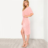 PRETTY IN PINK SHEATH DRESS - B ANN'S BOUTIQUE
