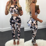 MIDNIGHT FLORAL DREAM PANTS SET - B ANN'S BOUTIQUE