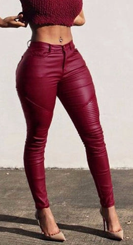 LOVELY IN LEATHER PENCIL PANTS - B ANN'S BOUTIQUE