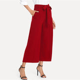 THE ROXIE RED ANKLE PANTS - B ANN'S BOUTIQUE