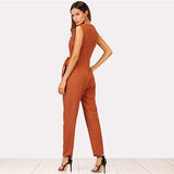 CALLIE'S COLLARED JUMPSUIT - B ANN'S BOUTIQUE