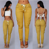 SKINNY CARGO PANTS - B ANN'S BOUTIQUE