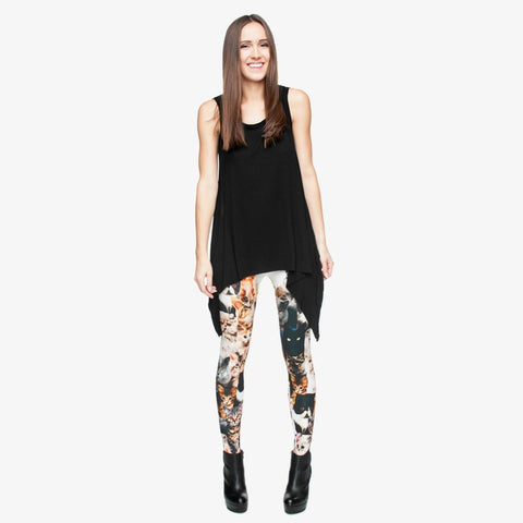 CUTE KITTY CAT LEGGINS - B ANN'S BOUTIQUE