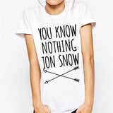 YOU KNOW NOTHING JON SNOW T-SHIRT - B ANN'S BOUTIQUE