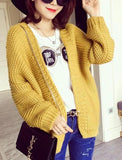 OVERSIZED DOUBLE-KNIT CARDIGAN - B ANN'S BOUTIQUE