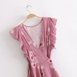 PRETTY IN PINK WRAP DRESS - B ANN'S BOUTIQUE