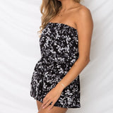 SUMMER NIGHTS STRAPLESS ROMPER - B ANN'S BOUTIQUE