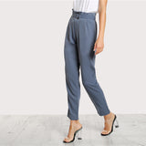 BELLA BLUE ANKLE PANTS - B ANN'S BOUTIQUE