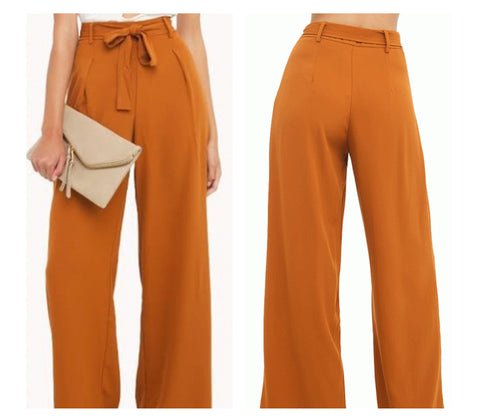 HIGH WAISTED WIDE LEG PANTS - B ANN'S BOUTIQUE