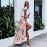 FLORAL BOHO HIGH WAIST MAXI SKIRT - B ANN'S BOUTIQUE