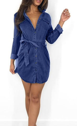 THE DENIM SASH DRESS