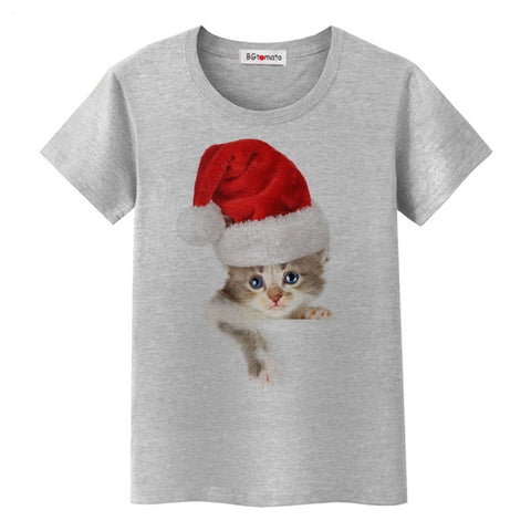 KITTEN CLAUS T-SHIRT - B ANN'S BOUTIQUE
