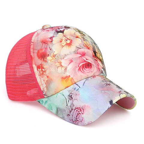 FLORAL MESH PARTY CAP - B ANN'S BOUTIQUE