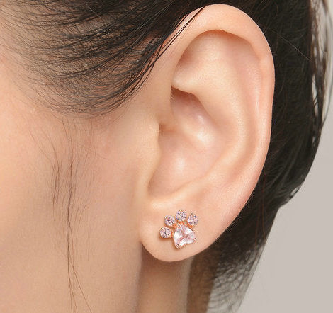 KITTEN PAW STUD EARRINGS - B ANN'S BOUTIQUE