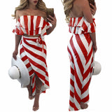 SAVANNAH'S STRIPED TWO-PIECE SKIRT SET - B ANN'S BOUTIQUE