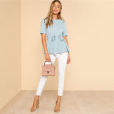 BAILEY BLUE BLOUSE - B ANN'S BOUTIQUE