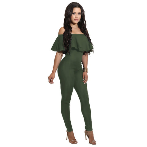 OFF-THE-SHOULDER JUMPSUIT - B ANN'S BOUTIQUE