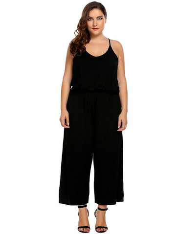 PRISCILLA'S PERFECT CHIC CAMI JUMPSUIT - B ANN'S BOUTIQUE