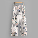 PENNY'S PERFECT FLORAL STRIPE PANTS SET - B ANN'S BOUTIQUE